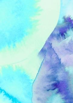ミックスブルー水彩テクスチャ背景のフルフレーム