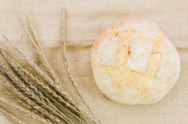 手作りパンのあるパン屋の静物