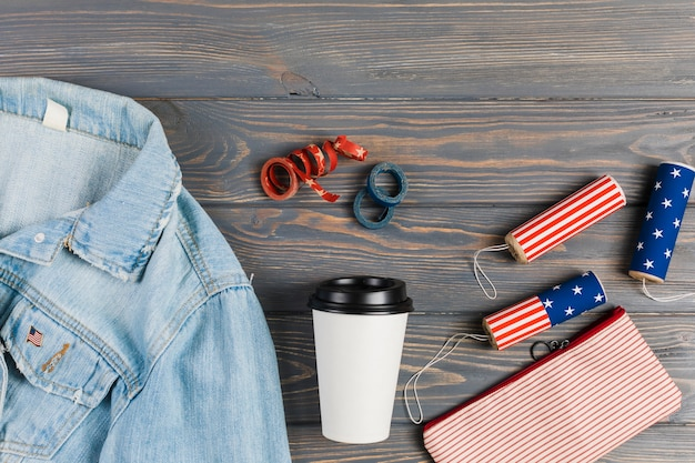 独立記念日のための服や装飾
