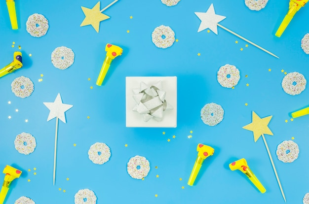カラフルな紙吹雪の誕生日プレゼント