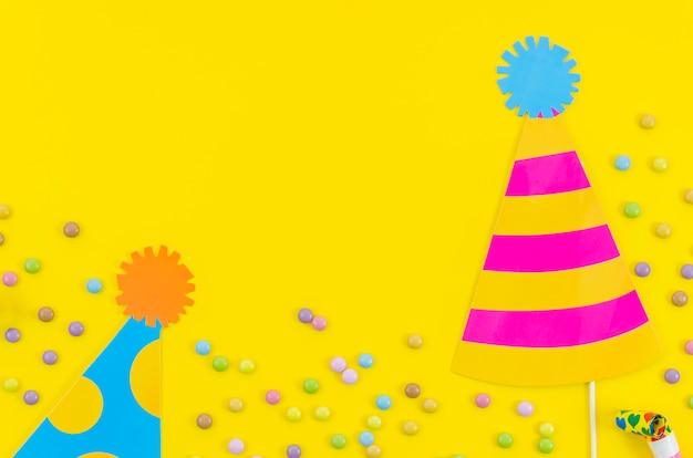 カラフルな装飾的な誕生日の要素