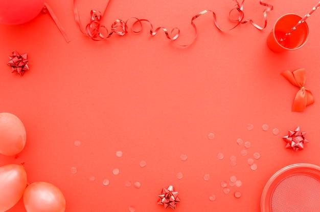Красочные декоративные элементы дня рождения