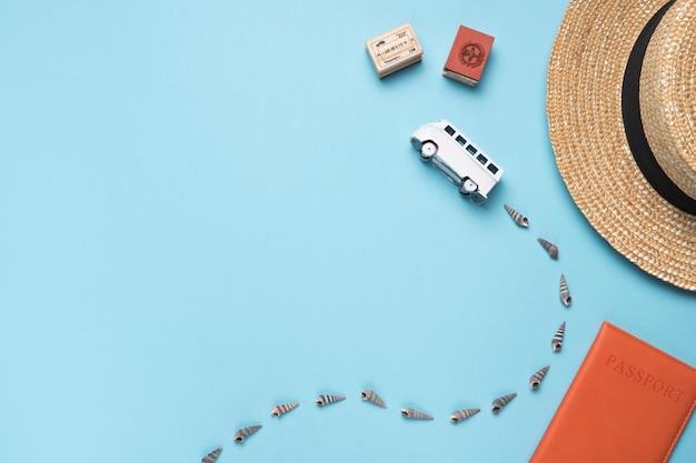 バスと観光の概念
