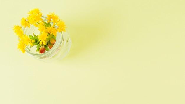コピースペース平面図の花