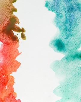 Художественные красочные акварельные мазки