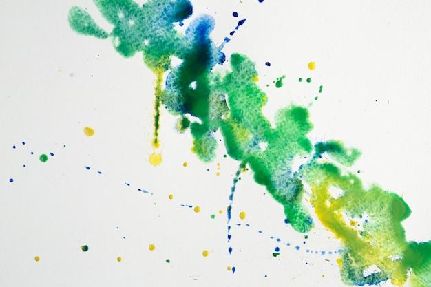 水彩水しぶきのカラフルな芸術的な汚れ