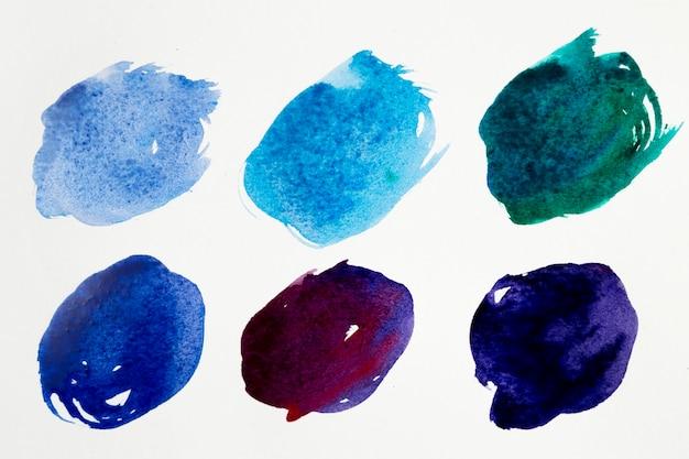 水彩画の汚れのカラーパレット