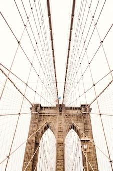 ブルックリン橋の上ロープ