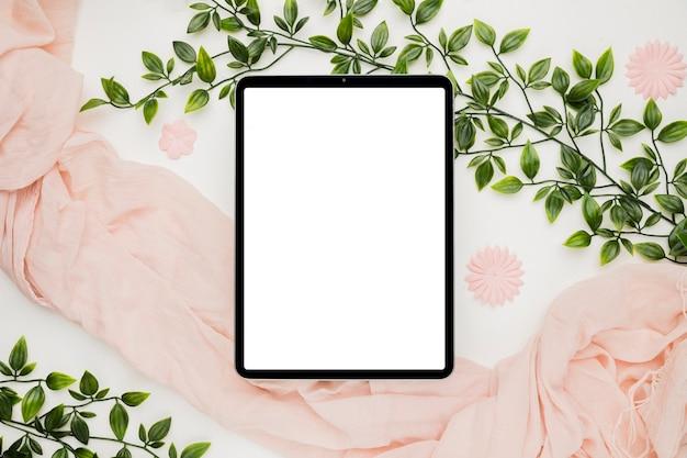 結婚式のための美しいタブレットテンプレート