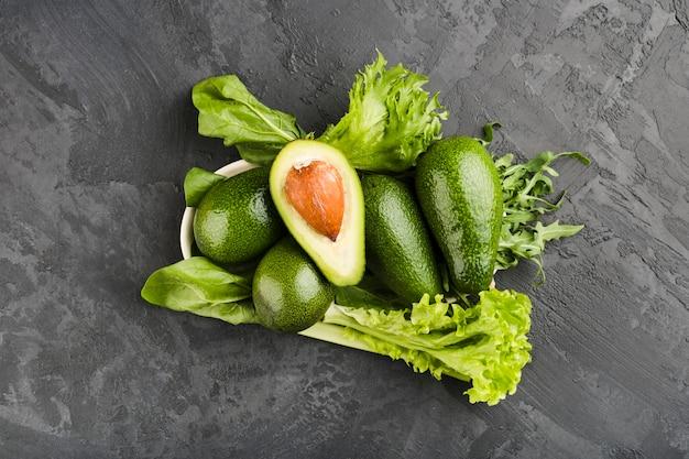 健康的な野菜の平干し組成