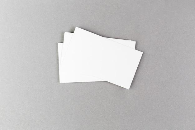 Макет пустой визитной карточки
