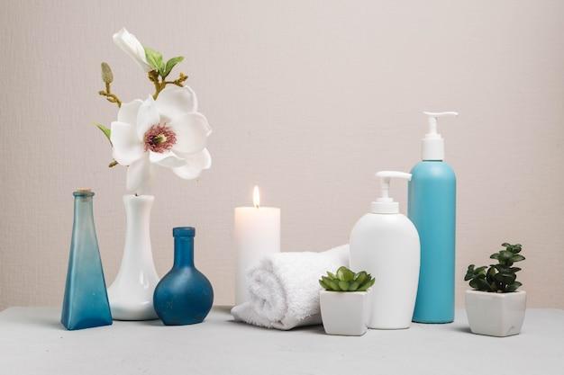 美容クリームとスパのための自然な要素