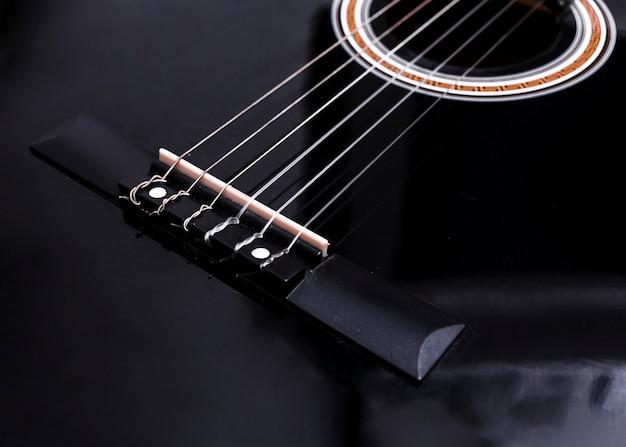 ギターのクローズアップ