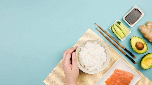 寿司食材のトップビュー