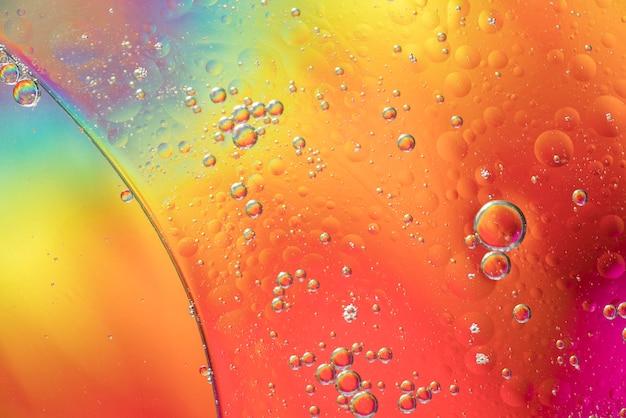 虹の抽象的な泡の質感