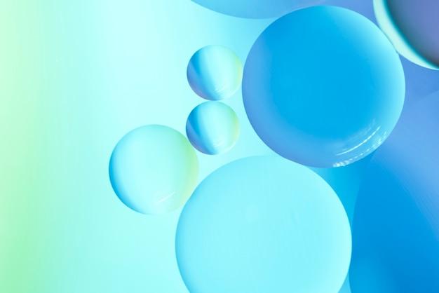 抽象的なオイルの泡の背景