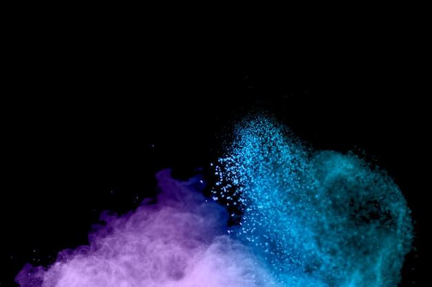 Заморозить движение цветного порошка