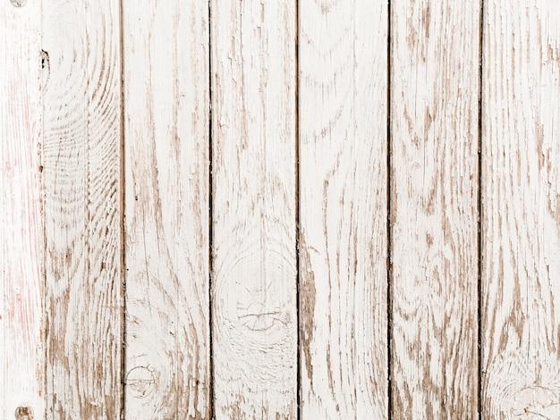 古い白い塗られた木の板の背景
