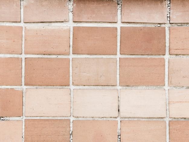 Полный кадр кирпичной стены текстурированный фон