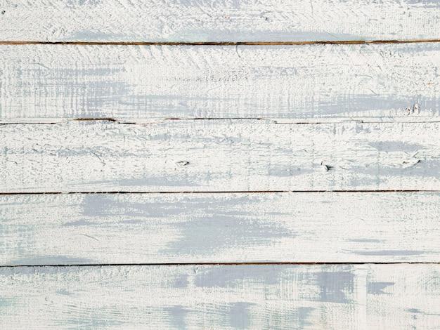 白い木の板テクスチャの高角度のビュー