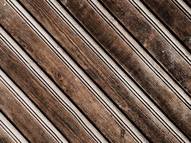 古い木製のベンチのフルフレーム