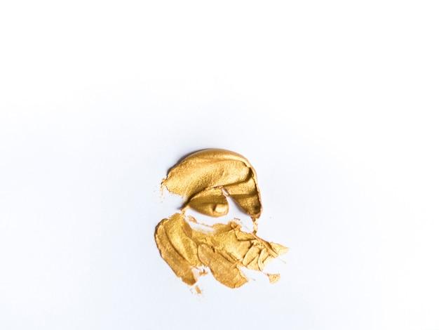 キャンバスに金色のメタリックカラー