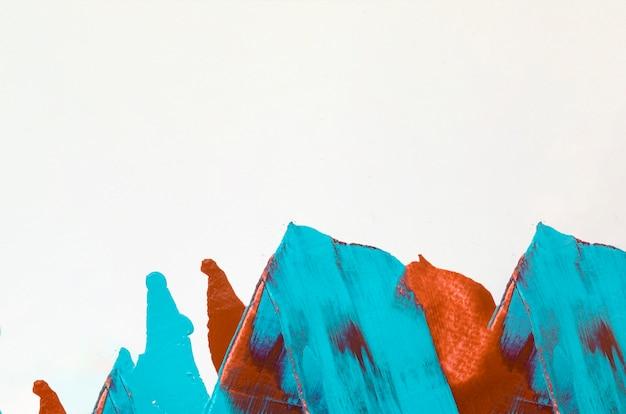 コピースペースとオレンジと青のストローク