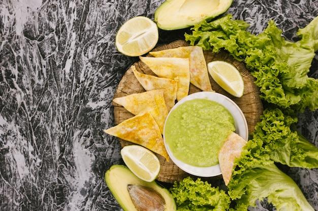 大理石の背景に健康食品
