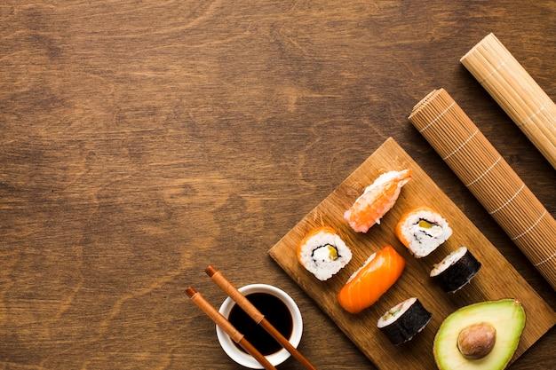 コピースペース付き平干し寿司アレンジ