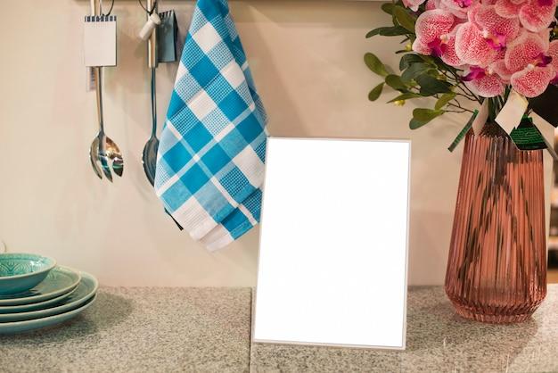 台所で空白の枠