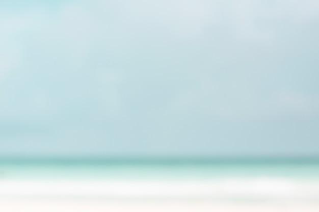 ビーチで多重の海岸線