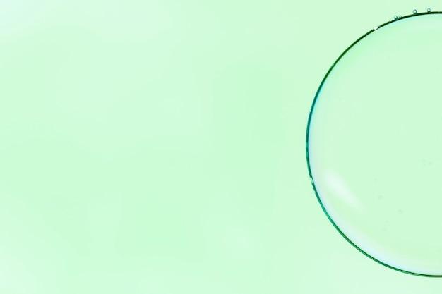 抽象的なミニマル拡大鏡バブル