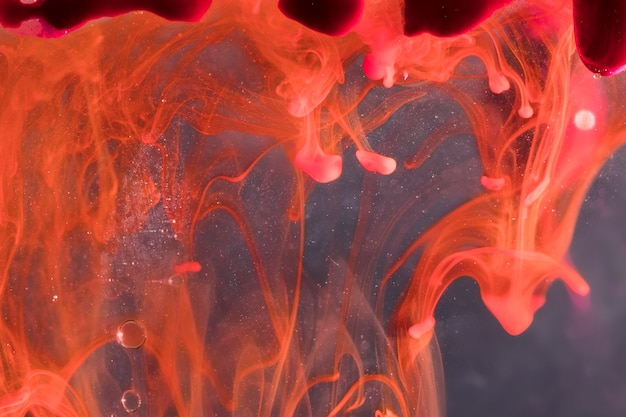 抽象的な水中溶岩の概念
