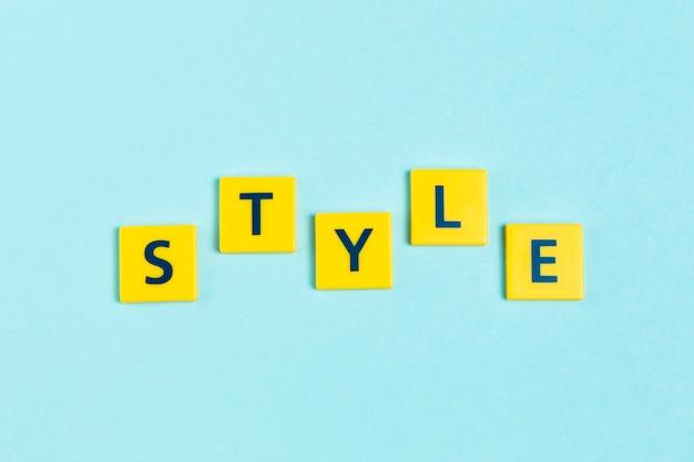 スクラブルタイル上のスタイルの単語