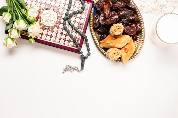 フラットレイ中東の伝統的な装飾