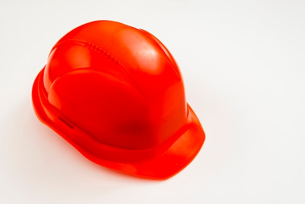 クローズアップハイアングルビュー建設ヘルメット