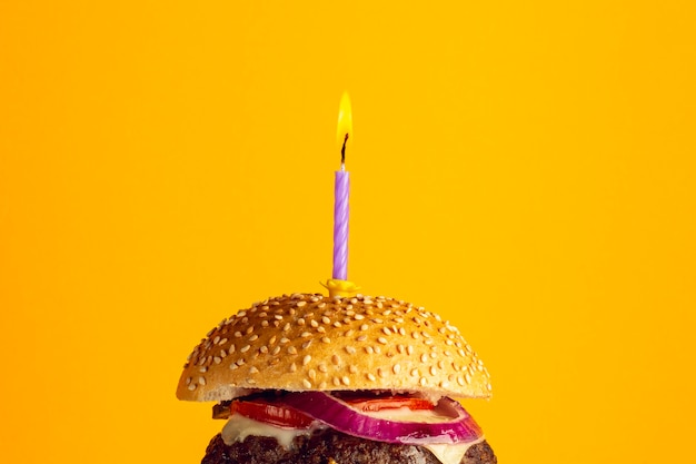 Крупный план годовщины бургер