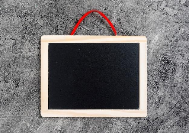 黒板とトップビューデスクコンセプト