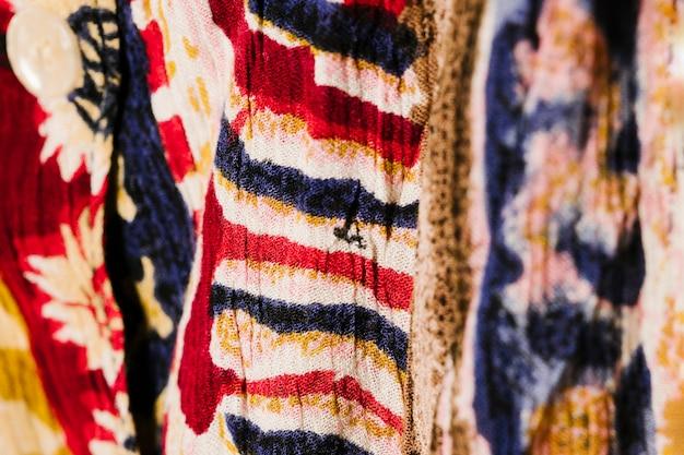 抽象的な布のクローズアップ