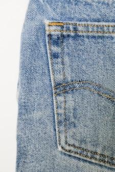 Винтажные синие джинсы крупным планом