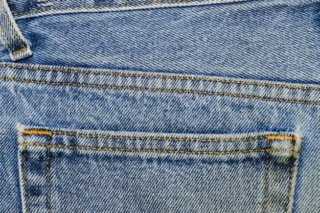 Винтажный джинсовый карман крупным планом