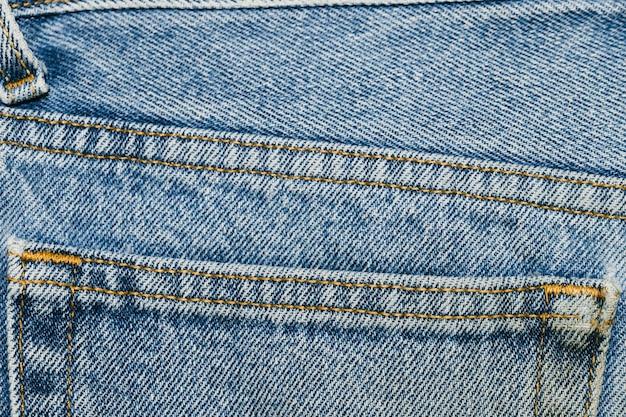 Подробности на джинсовом кармане крупным планом