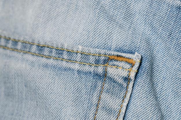 ライトブルーのビンテージジーンズポケット