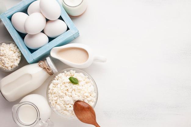 コピースペース風味豊かな朝の朝食