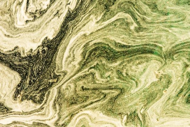 キャンバスに抽象的な海の油絵の具