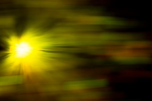 黄色のぼやけモーションエフェクトファイバーライト