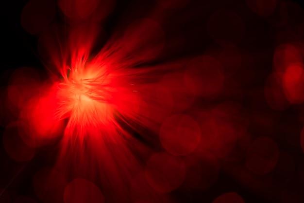 光ファイバーの赤の抽象的な送風機