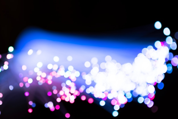 Разноцветные размытые световоды