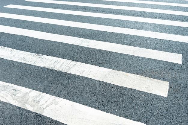 横断歩道のクローズアップ