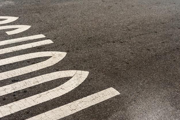 学校の道路標識のクローズアップ